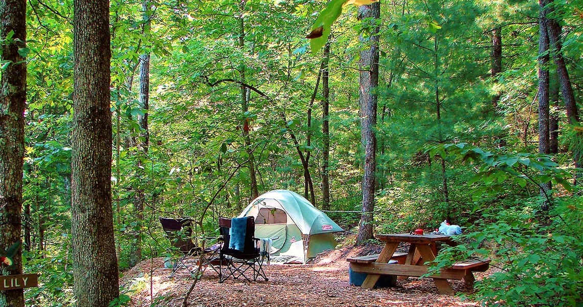 Secluded Tent Sites